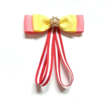 1PCS t Fashion ribbon Bow Brooches For Women Neck Tie Pins Party Wedding Large Ribbon Brooch Jewelry Clothing Accessories Gifts