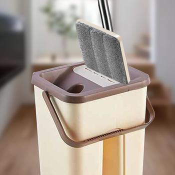 flat mop high quality aluminum alloy mop floor mop cleaning tool stainless steel rod Flat Mop Free Hand Washing Stainless Steel Handle Mop Home Floor Cleaning Microfiber Pad Scraper Barrel Clean Home Office