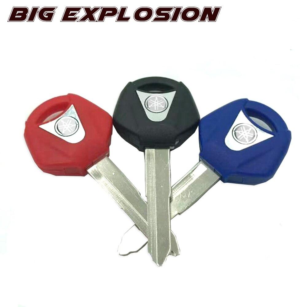 Motorcycle Uncut Blade Blank Key Embryo For YAMAHA YZF XJR1300 FJR1300 MT09 MT07 XJ6 TMax FZ6 FZ8 R3 R1 R6