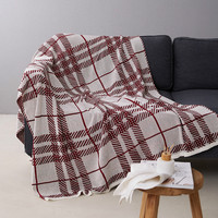 Cilected British Wind Cotton Sofa Towel Blanket Red Wood Knitting Line Blanket Sofa Blanket Air Conditioning Bed Tail Blanket