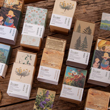 100 pçs/set coleção antiga de livro mini material papel lixo jornal planejador scrapbooking vintage decorativo diy artesanato papel