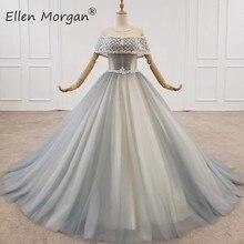 Élégant robes de bal robes de soirée 2020 pour les femmes Dubai Cafans longueur de plancher vraies Photos perles début événement fête formelle