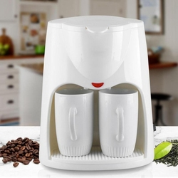 2 Cups Drip Coffee Makers 500W Electric Automatic Coffee Steam Espresso Espresso Machine Portable Outdoor Travel Coffee Machin