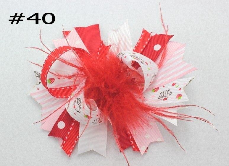 500 шт. бутик для девочек заколки для волос перо банты забавные, для волос луки ко Дню Святого Валентина с бантом