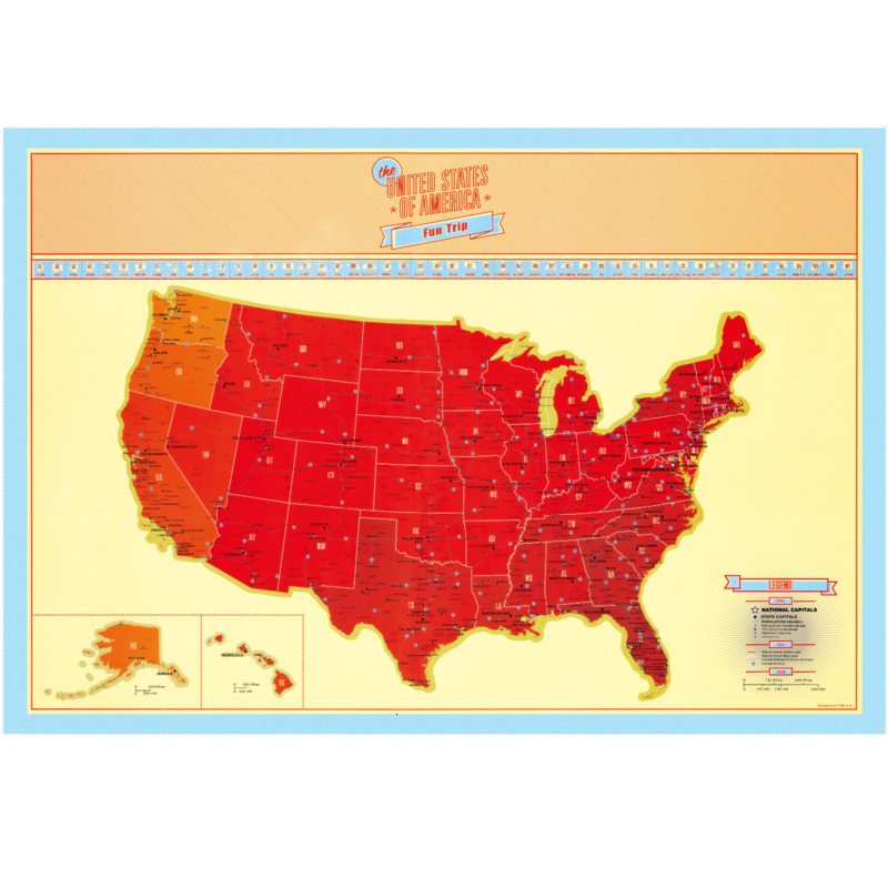 Luxury Scratch American Map Scratch Off Travel Map Premium Gift For Traveler Room Home Office Decoration Wall Stickers World Map
