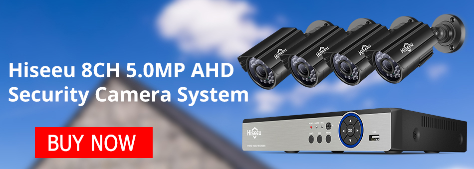 H75afc6c4f43b42e7bf1090619f0f4e1b2 Hiseeu CCTV camera System 4CH 720P/1080P AHD security Camera DVR Kit CCTV waterproof Outdoor home Video Surveillance System HDD