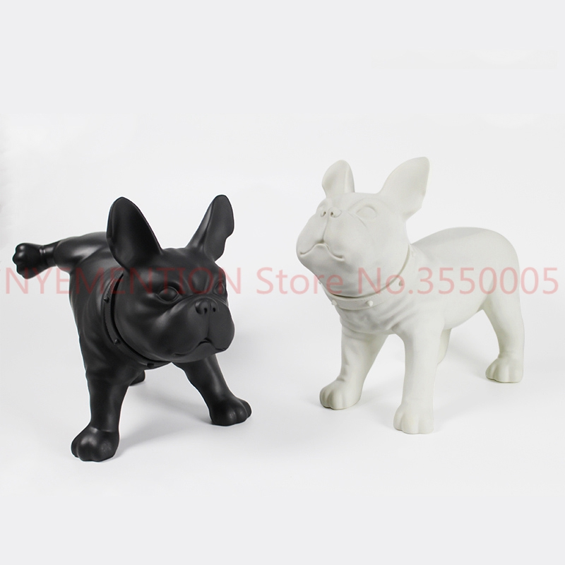 Creative French Bulldog Dog Sculpture PE Plastic Pet Dog Statue Cute Animal Foo Dog Figurine Home Decorations Handicrafts 1pcs