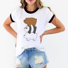ropa mujer 2019 we bare bears t shirt women plus size panda cartoon printed t-shirt camiseta harajuku femme tops