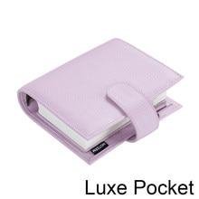 Moterm luxe série bolso planner floppy a7 tamanho notebook com 30 mm anéis de prata mini agenda organizador do couro diário bloco de notas