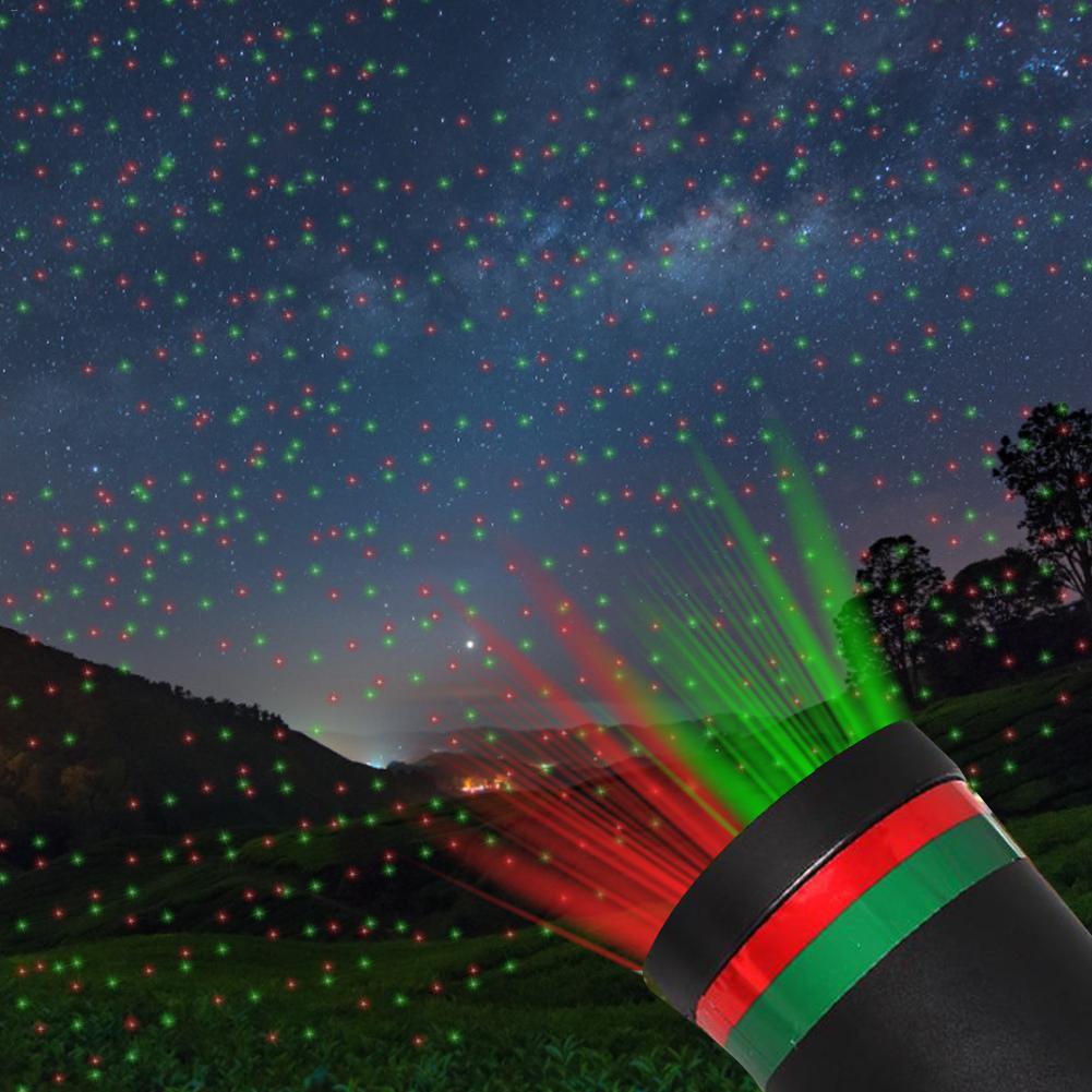 Открытый движущийся полный Небесный Звездный Рождественский лазерный проектор сценический светильник зеленый и красный светодиодный све...