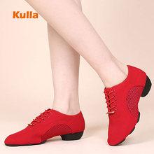 Women's Latin Dance Shoes Jazz Dancing Shoes Red Modern Danc