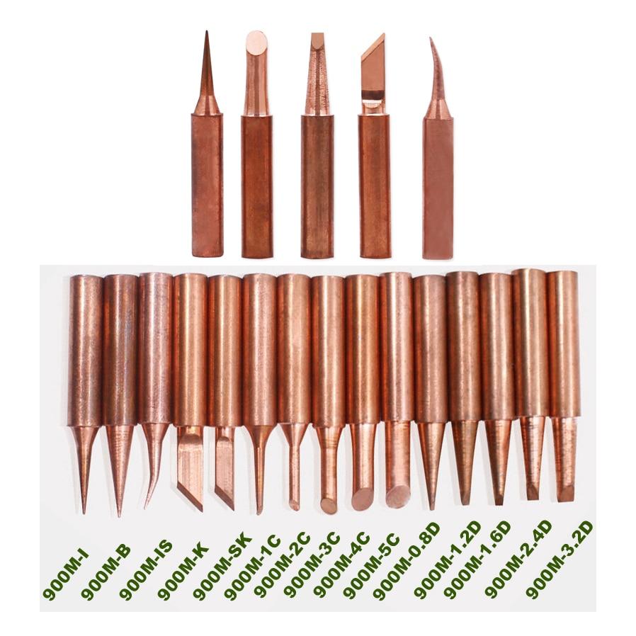 5pcs/lot Pure Copper Iron Tip 900M-T Soldering Tip For Hakko Soldering Rework Station Soldering Iron Station