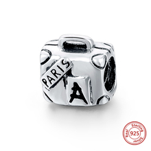 Strollgirl new 100% 925 Sterling Silver Travel Suitcase Retro Trunk Charms Beads Fit Pandora Bracelet Lady Fashion Jewelry Gifts