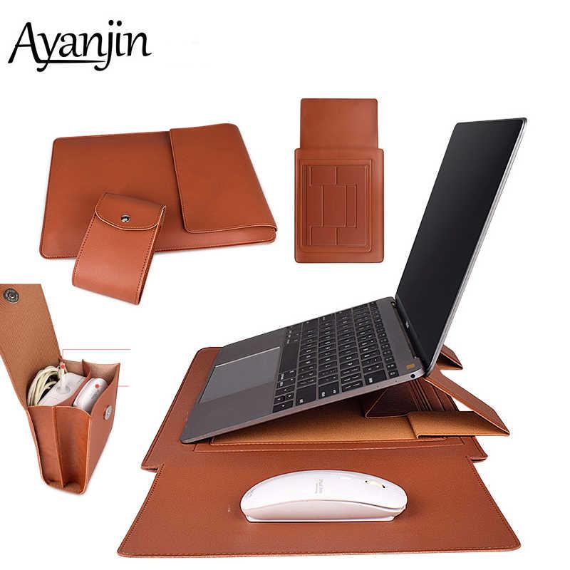 Black Lines Laptop Fur linen Pouch Macbook Pro Macbook air Sleeve Laptop Sleeve for 13 or 15 Protective Bag Mac book Pro case