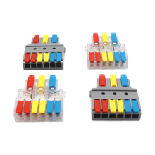 цена на Wire Connector Electrical Wire Splitter Universal Wiring Cable Terminal Block Conductor LED Strip T Quick Conectors Push-in