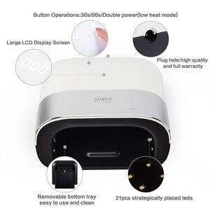Image 4 - Sunuv SUN3 Nail Droger Smart 2.0 48W Uv Led Lamp Nagel Met Smart Timer Geheugen Onzichtbare Digitale Timer Display nagel Droogmachine