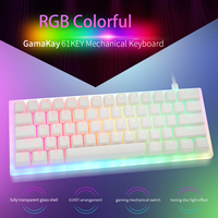 Womier 61 schlüssel Individuelles Mechanische Tastatur Kit 60% 61 PCB FALL heißer swap schalter unterstützung beleuchtung effekte mit RGB schalter led