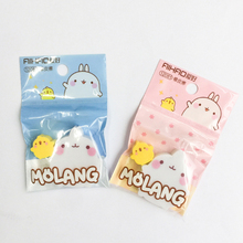 2pcs/set Hobby New Cute Rabbit One Plus Duck Rubber Kawaii Stationery Eraser For School Gifts