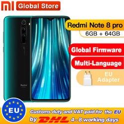 Globale ROM Xiaomi Redmi Nota 8 Pro 6GB 64GB Smartphone 64MP Quad Camera Helio G90T Octa Core 4500mAh NFC