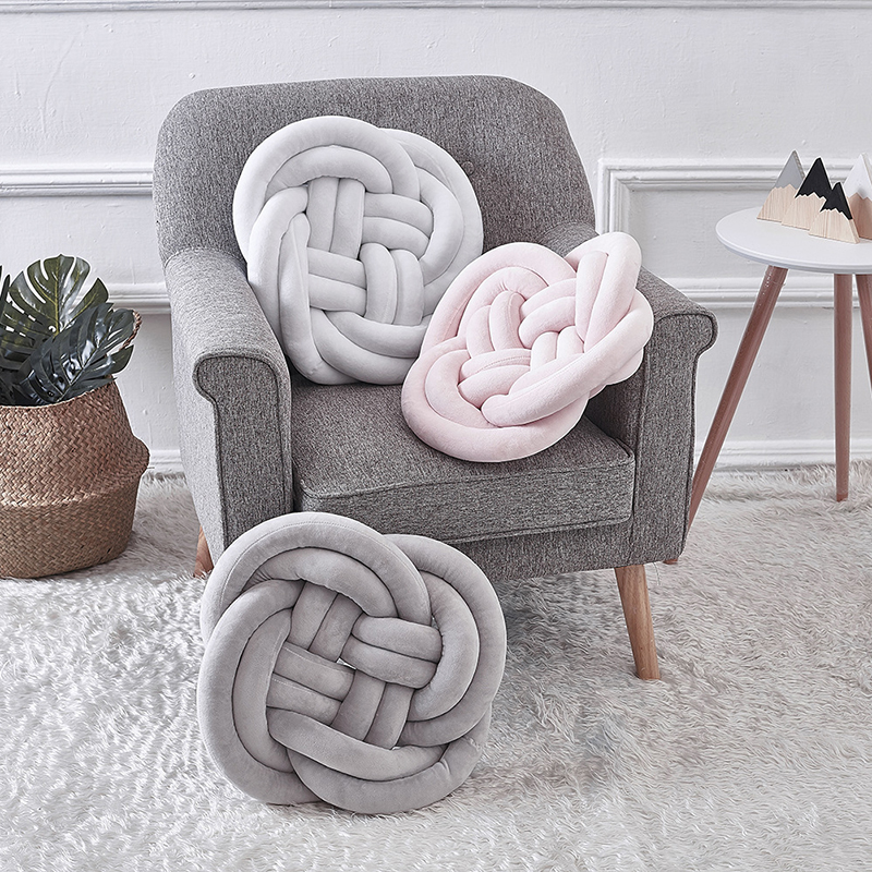 Newborn Pillow Knot Ball Cuddle Pillow Cushion Kids Pillows Weaving Decoration For Gift Protection Pad YZL031