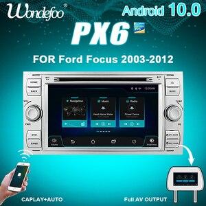 Image 1 - PX6 2 الدين الروبوت 10 راديو السيارة لفورد مونديو S ماكس التركيز C MAX غالاكسي فييستا العبور فيوجن ربط كوغا 2DIN السيارات الصوت GPS