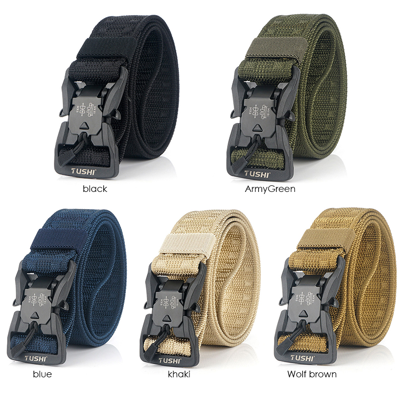 HSSEE Official Genuine Tactical Belt Hard PC Quick Release Magnetic Buckle Military Belt Soft Real Nylon Sports Accessories 6