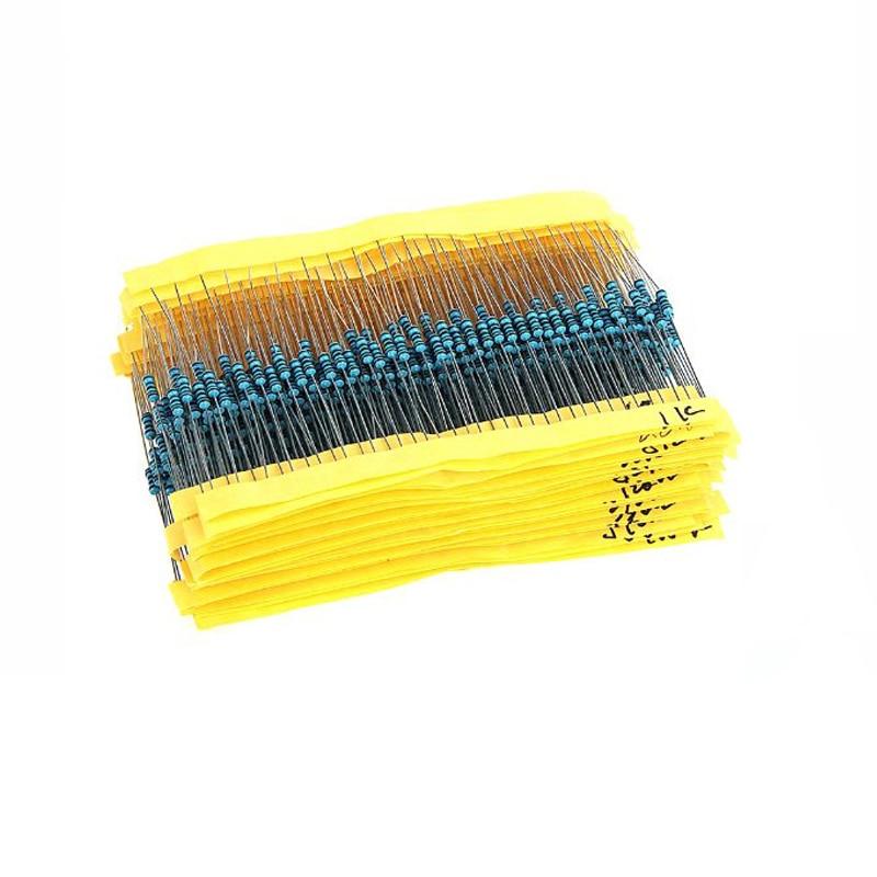 300 шт./упак. 10 Ом-1 м Ом 1/4 Вт 1% набор сопротивления металлического пленочного резистора 30 видов 10 шт 1k 10k для Arduino UNO