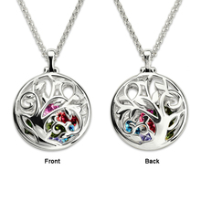 StrollGirl personalized 925 sterling silver life tree necklaces with cage birthstones custom Pendant woman fashion jewelry gifts