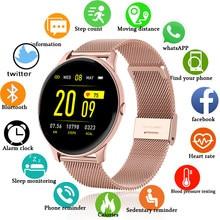 LIGE 2020 yeni renkli ekran akıllı saat kadın erkek çok fonksiyonlu spor kalp hızı kan basıncı IP67 su geçirmez Smartwatch + kutu