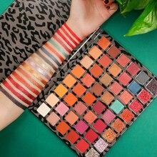 DELANCI Pro Palette de 48 couleurs de fards à paupières, couleur terre, Bronze naturel, neutre, Smoky, mat, scintillant