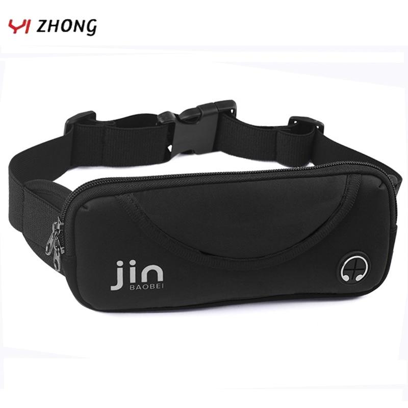 YIZHONG Running Waist Bag Unisex Waterproof Breathable Sports Belt Bag Multifunction Fitness Marathon Fanny Pack Fashion Leg Bag
