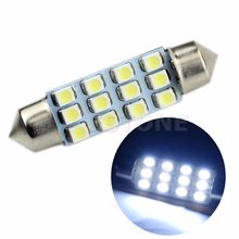 41mm Girlande Dome 12-LED SMD 1206 Lampe Licht Lampe Auto Innen Weiß dropshipping für led bar(China)