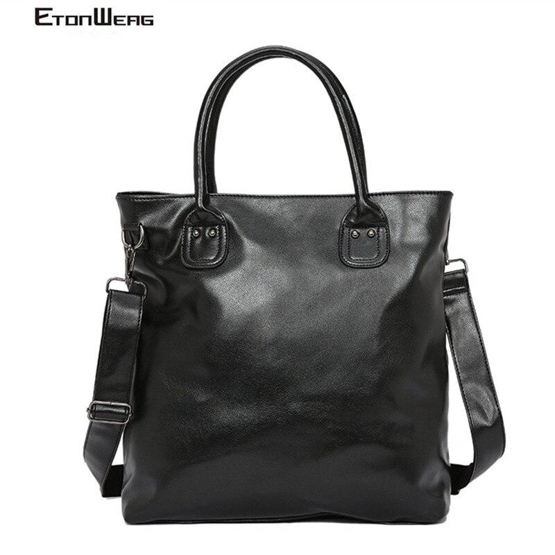Men Business Office Briefcase Luxury Brand PU Leather Handbag Women Computer Laptop Bag Male Vintage Messenger Bags Leisure 2019