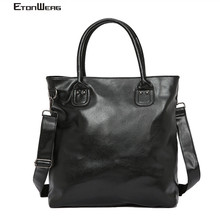 Men Business office Briefcase Luxury Brand PU Leather Handbag women Computer