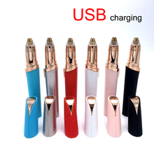 Portable Usb Rechargeable  Mini Shaver Electric Face Hair Remover Lipstick Eyebrow Trimmer Razor Epilator For Women