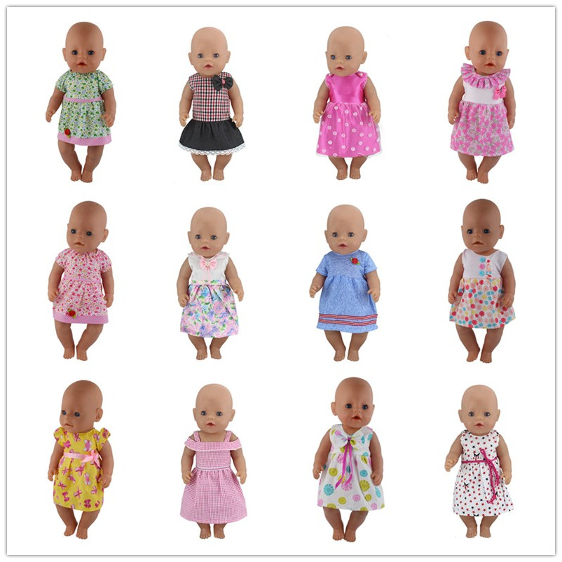 New Dress Wear For 43cm Zapf Baby Doll 17 Inch Reborn Babies Dolls Clothes