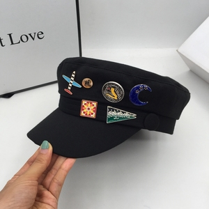 New winter military hats for women cap badge navy fashion female tide restoring ancient ways of England beret