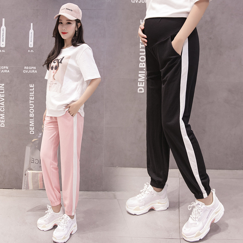 Pregnant WOMEN'S Pants Summer Thin Section Outer Wear Pregnant Women Pants Spring And Autumn Capri Athletic Pants Casual Pants