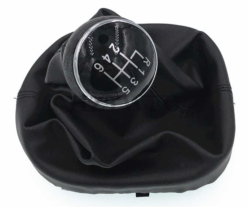 Alamor 5 Speed Gear Shift Knob Gear Stick Gaiter Boot For VW Touran Caddy MK2 Leather