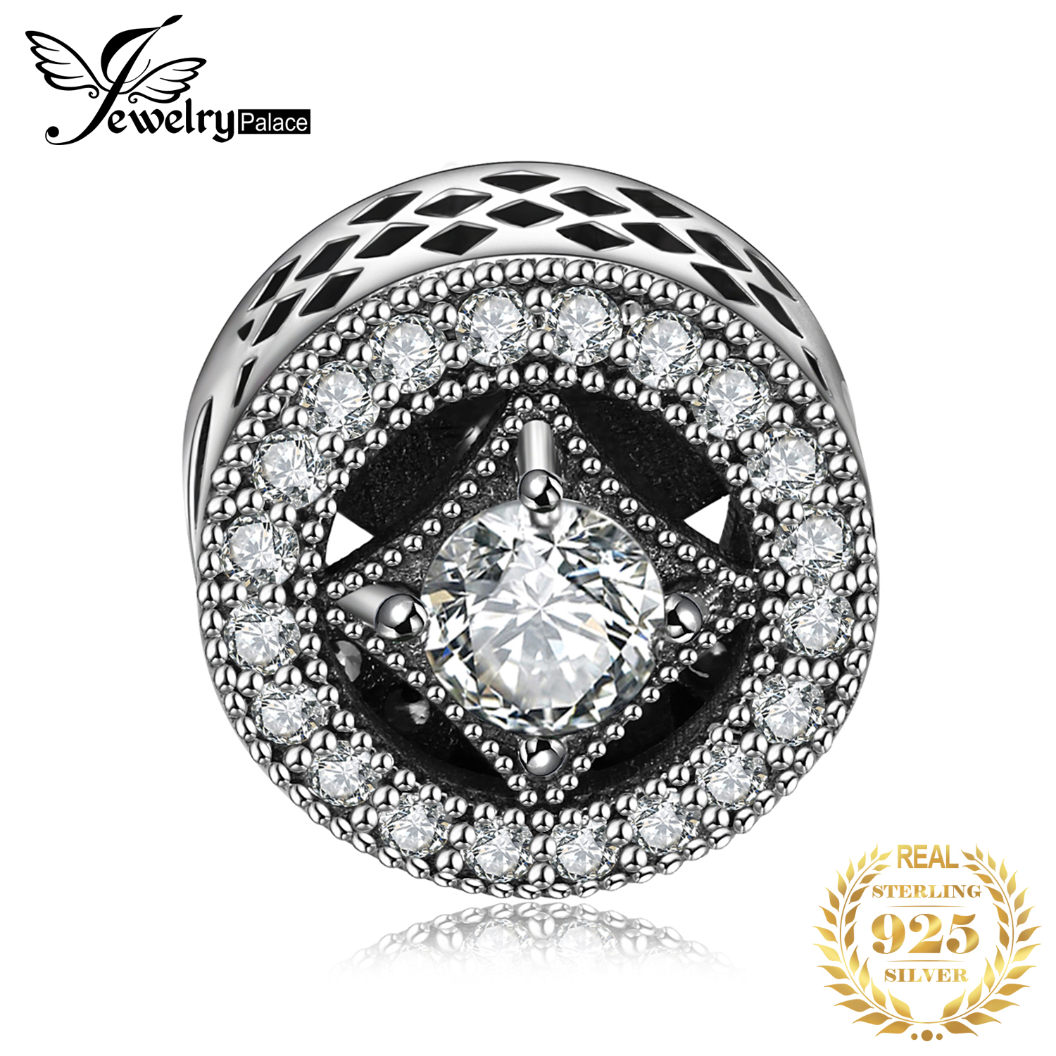 JewelryPalace Invitations 925 Sterling Silver Beads Charms Silver 925 Original For Bracelet Silver 925 Original Jewelry Making