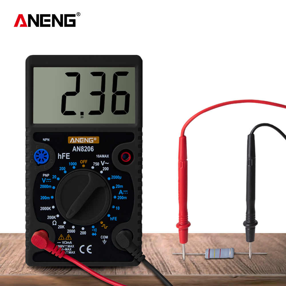 Mini Digital Multimeter Buzzer Square Wave Output Ampere Tegangan Ohm Tester Probe Elektronik Power Multi Meter Test
