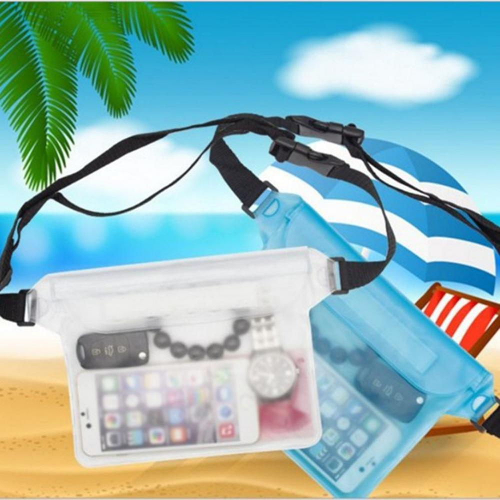 Waterproof Dry Pack Outdoor Swimming Drifting Waterproof Pouch Dry Bag Unisex PVC Waist Phone Cover Storage Protective Bag