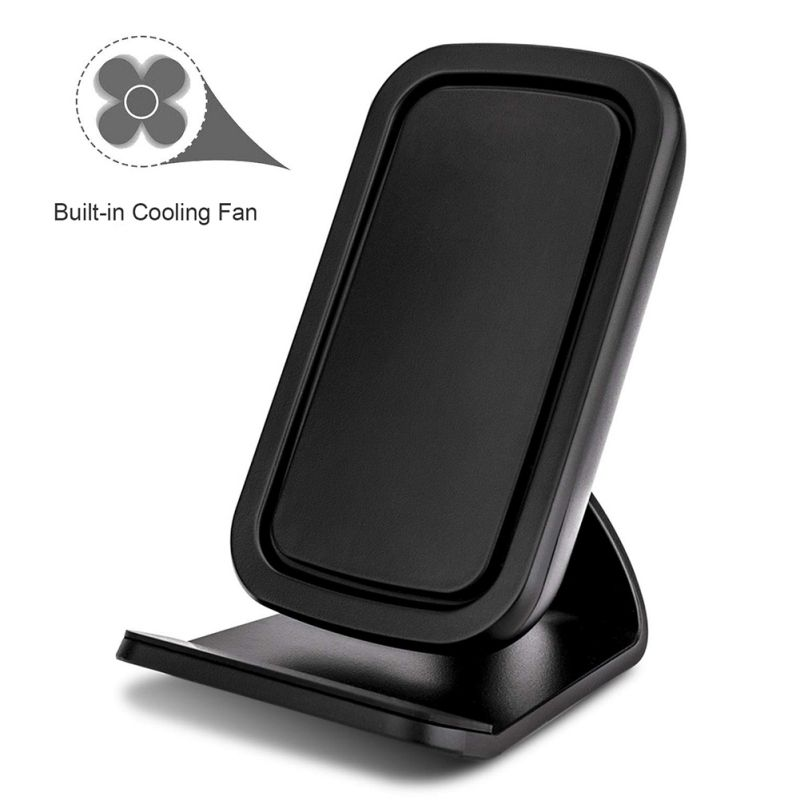 QI Wireless Charger 10/7.5/5W Cellphone Fast Charging Desk Stand With Cooling Fan For IPhone XS/XR/XS Max/X/8/8 Plus For Samsung|Mobile Phone Chargers| |  - title=