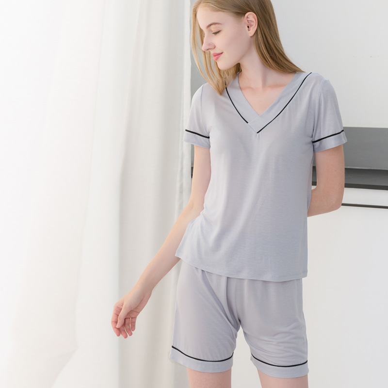 10% Silk 90% Lyocell Women Pajama Sets Underwears Women's Sleep Lounge Woman Soft Nightgowns Loose Female Sleepshirts