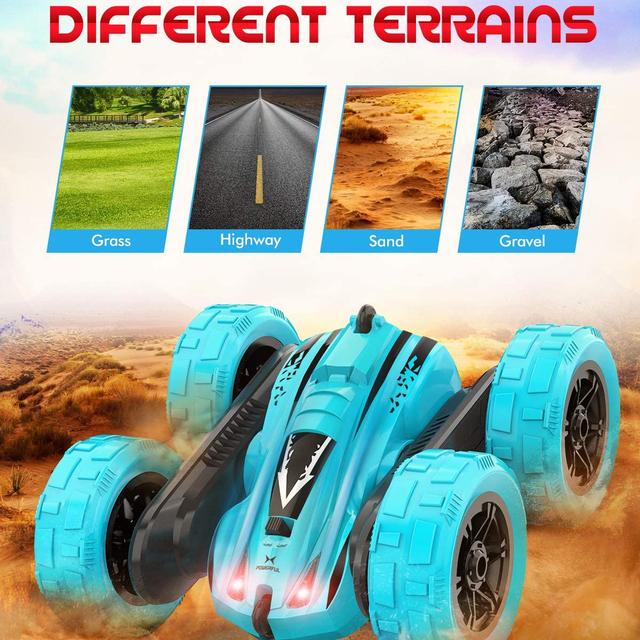 4WD RC Car 2.4G Radio Remote Control Car 1:24 Double Side RC Stunt Cars 360° Reversal Vehicle Model Toys For Adult Children Boy 4
