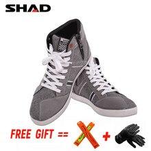 SHAD-Botas de Moto transpirables para hombre y mujer, zapatos de motorista, Botas de Carreras de Calle para deportes al aire libre, Botas informales