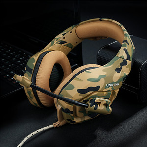 Image 5 - ONIKUMA K1 Camouflage PS4 Headset Bass Gaming Headphones Game Earphones Casque with Mic for PC Mobile Phone New Xbox One Tablet