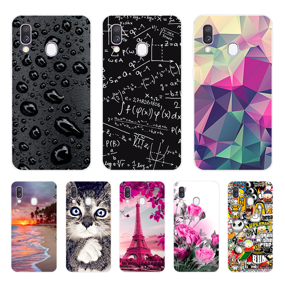 Case For Samsung A40 Case Cover Soft Silicone Phone Coque  For Samsung Galaxy A40 A 40 A405 SM-A405F A405F Cartoon Shells