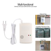 Combustible Gas Alarm Detector Monitor Natural LPG LNG Leak Sensor Sound Light Warning Home Security Fire Protection US Plug(China)