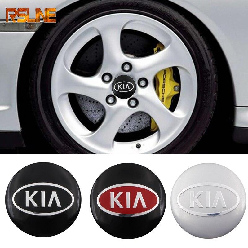4pcs 56mm Car Styling Car Wheel Center Hub Caps Badge Sticker FOR KIA K2 K3 K5 K9 Sorento Sportage R Rio Soul Car Accessories